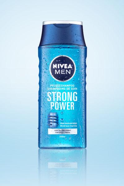 Nivea_StrongPower, Duschgel, Nivea, Kosmetikartikel, Fotostudio, Wallisellen, Duschgel, Körperpflege, Pflegeshampoo